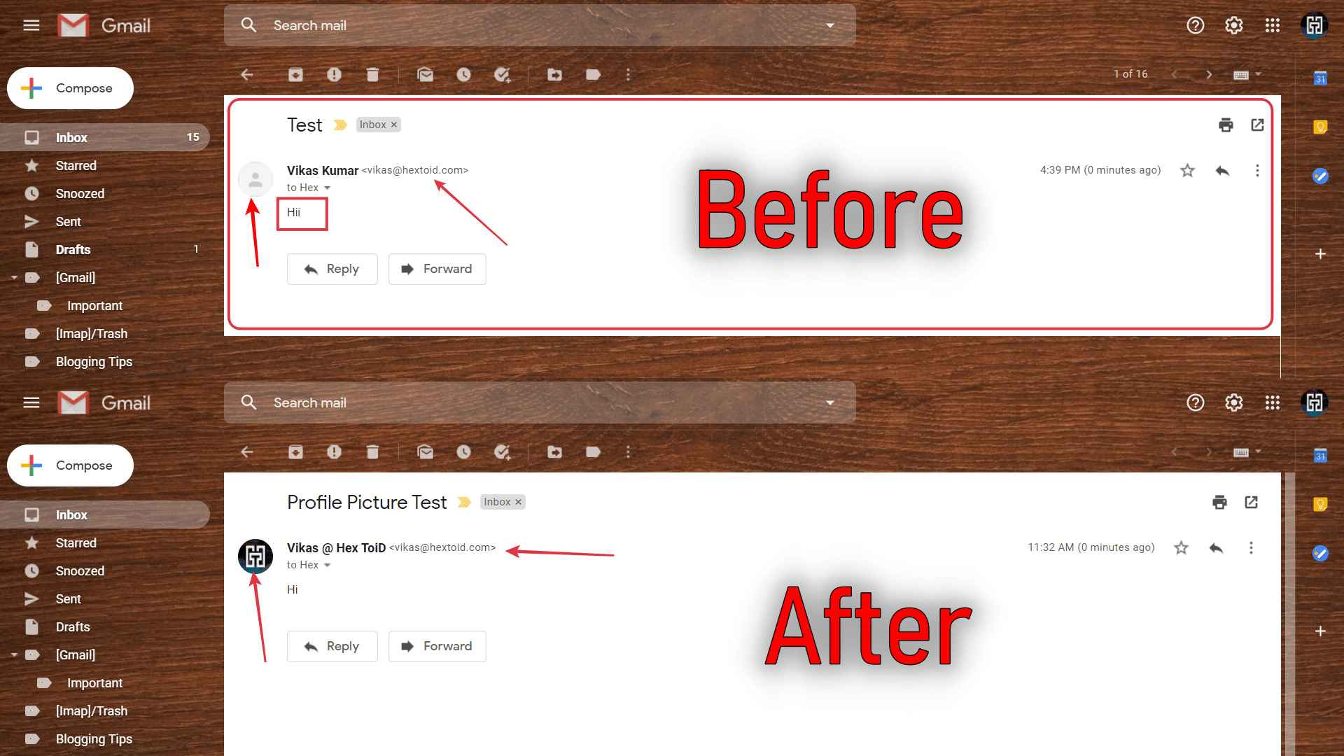 Before And After Email Preview