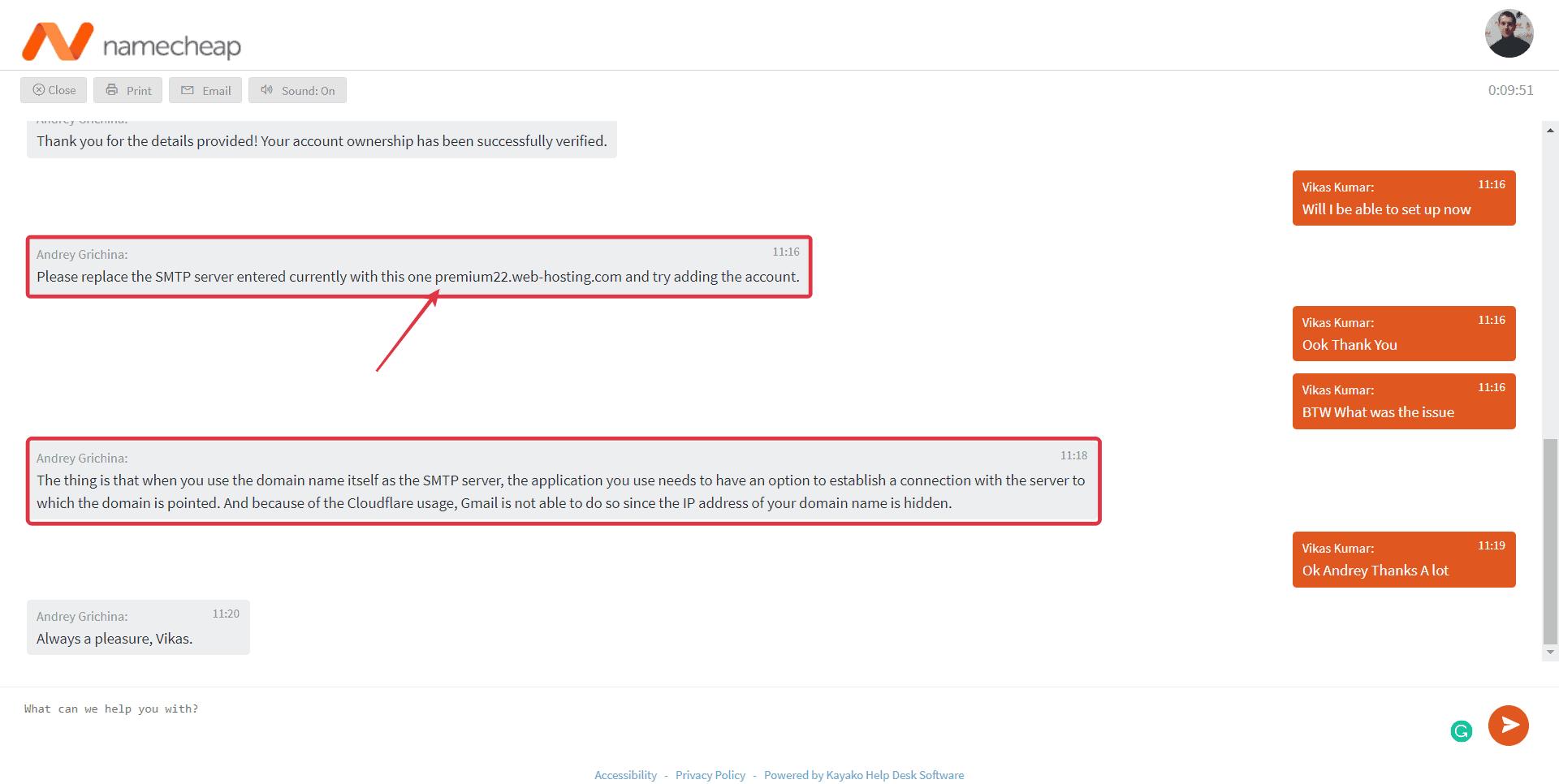 Namecheap Customer Support Explained Error