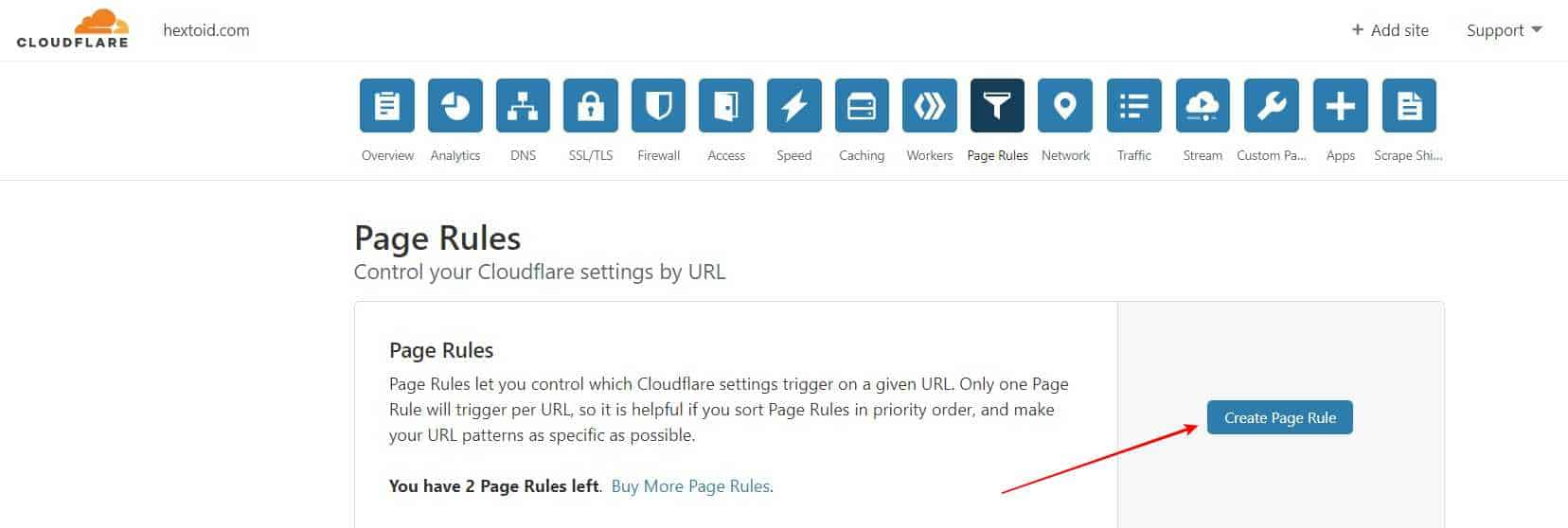 Create Page Rule