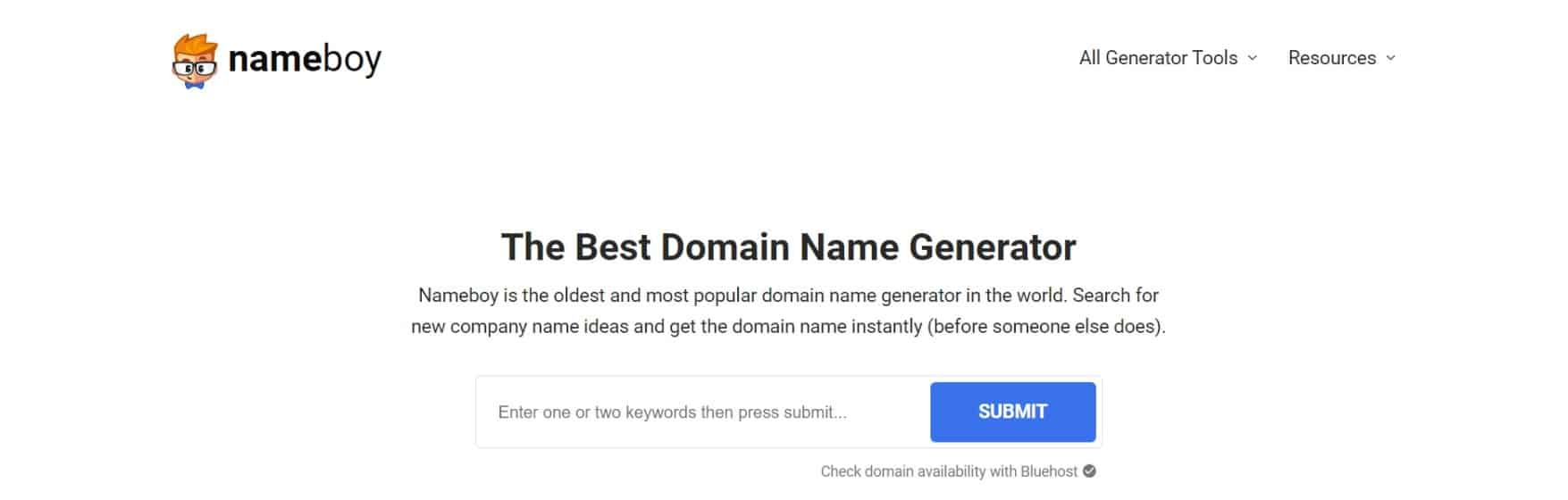Nameboy: Best Free Domain Name Generator (Get Instant Ideas)