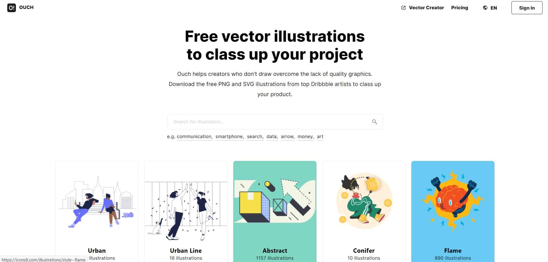 Ouch!: Free vector illustrations to class up your project