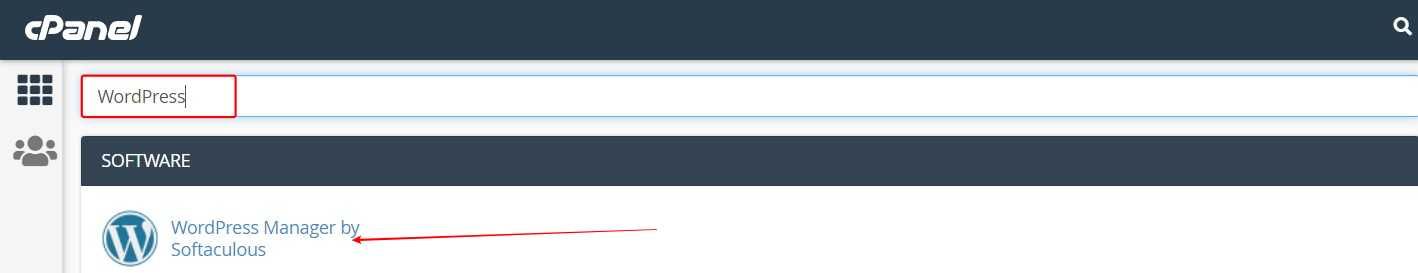 Log in to your cPanel > Search for WordPress > Click on WordPress