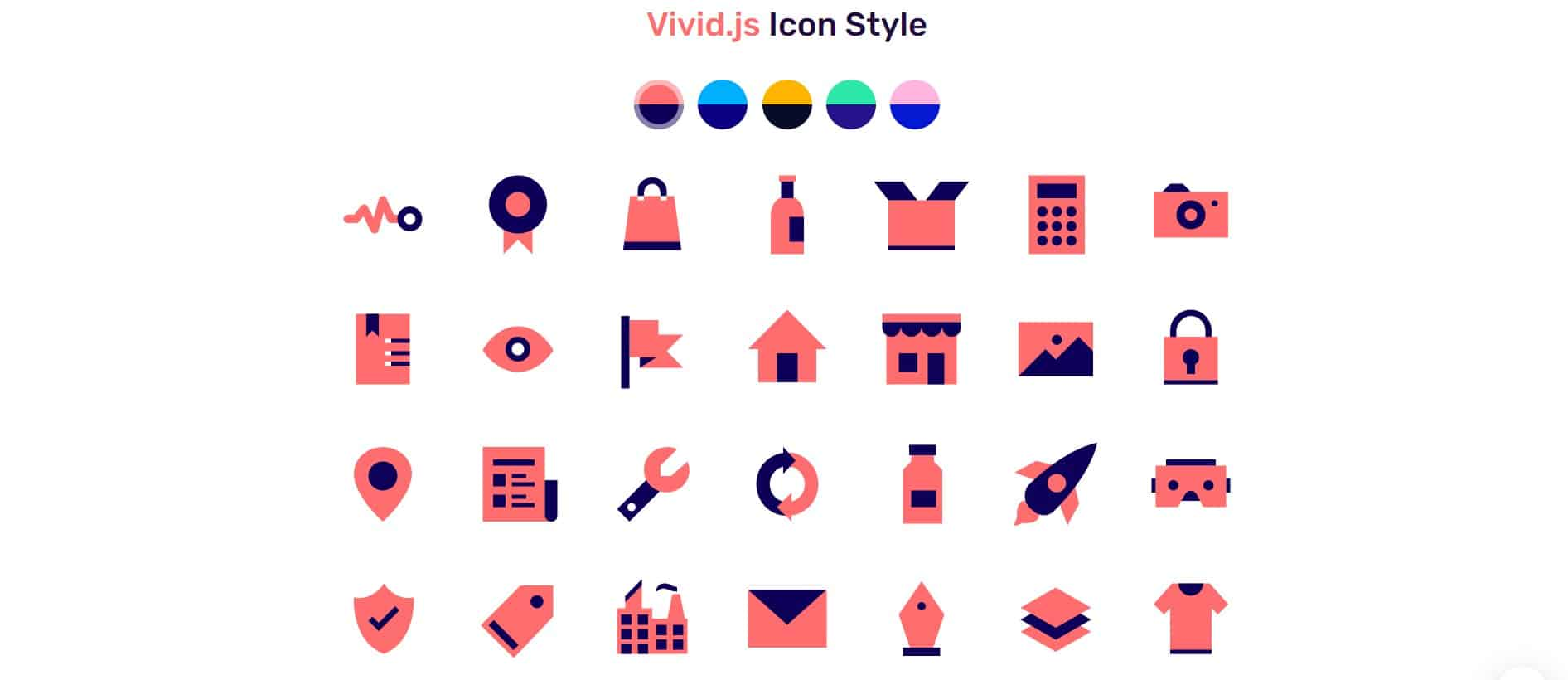 Vivid.js: Free Open Source SVG Icons Set Pack and Library