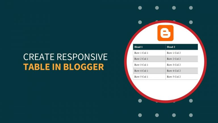 How To Create Responsive Table In Blogger?